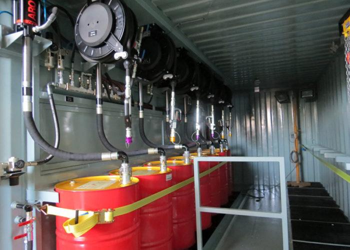 7.1 Interior lubricantera estacionaria